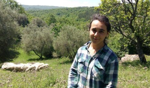 la giovane pastora e le sue pecore in maremma daniela zamperini