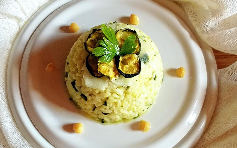 Risotto zucchine, ceci e Pecorino Toscano DOP