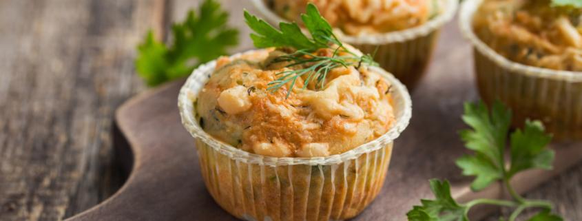 Muffin salati con Pecorino Toscano DOP e fave